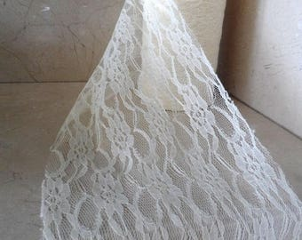 2 meters of 15cm wide ivory lace