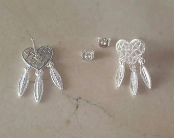 Dream catcher earrings 925 sterling silver