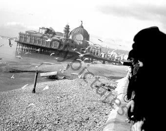Vintage photography - Nice Casino Pier Beach House