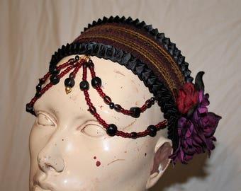 Burgundy Belly Dancer Head Piece