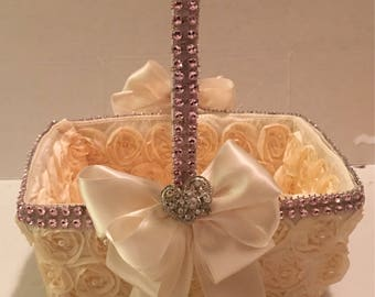 Flower girl basket ovorybams light pink