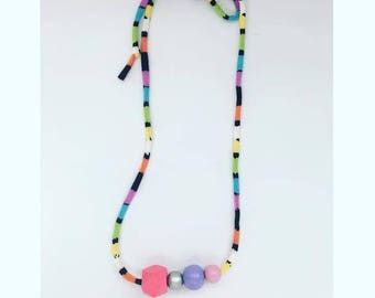 Rainbow colors necklace