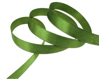 Dark green satin ribbon 12mm