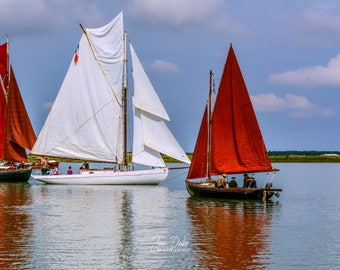 """Old rigging"" sailboat in parade"