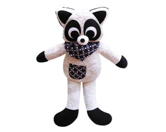 Cuddly plush raccoon cute child gift
