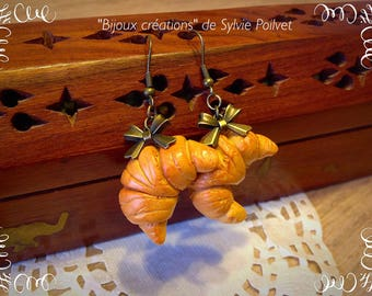 """Earrings """"Crescent butter and a small knot"""":"""