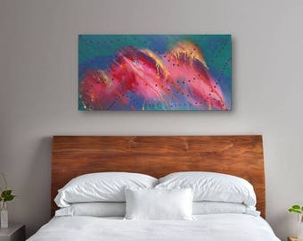 24 x 48 Large Abstract Painting - Original Art - Comet Confection