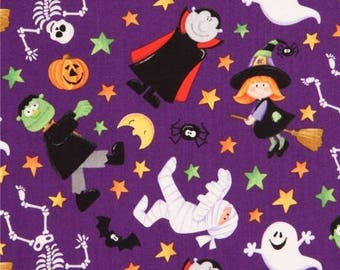 Serviette de table / goûter pour école maternelle - Halloween (fantôme, citrouilles, sorcières, ...)