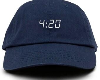 420  Dad Hat Adjustable Baseball Cap New - Navy