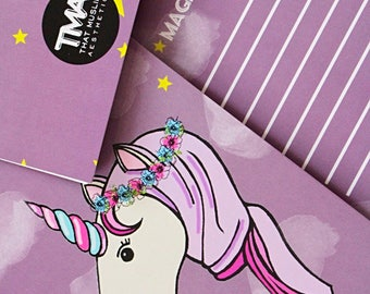 Unicorn Problems- A5 Notebook (Lined) Islamic Inspired Purple Lavender