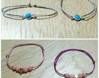 Kids adjustable bracelet 925 sterling silver or 18 k gold plated
