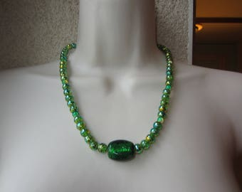 Necklace in different shade of green