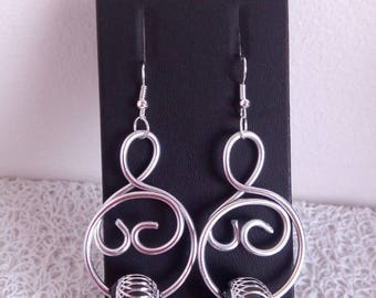 Silver Aluminum earrings