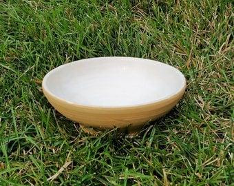 Yellow and White Bowl