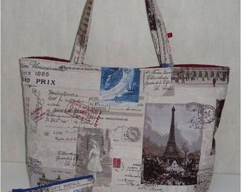 Grand Sac cabas Jolitissu Motif Paris