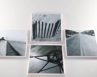 Tile Coasters- Black & White