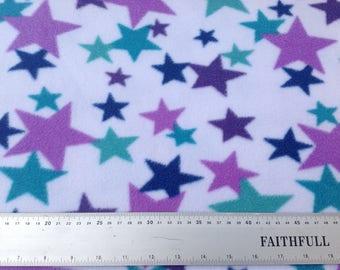 Polar Fleece Fabric-Stars on Fleece-Super Soft Fabric-Blanket Fleece-Quilt Fleece-Cosy Fabric-FREE P&P