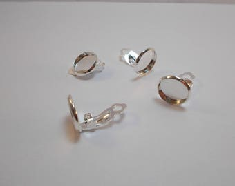 1 set of 4 holders for silver plated clip earrings