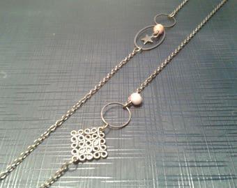 bronze leaf charm necklace necklace bird stamp
