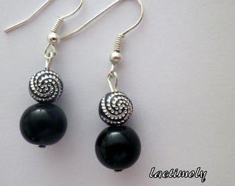 fancy black and Silver earrings