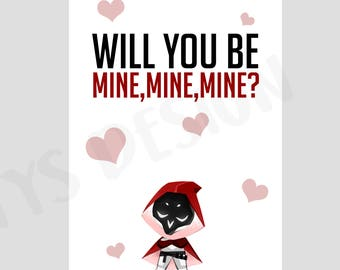 Overwatch Reaper Digital Download Valentine's Day Card