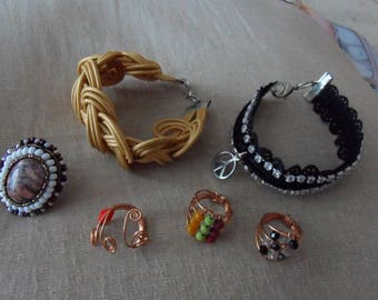 lots of jewelry rings bracelet any size