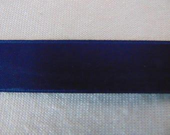 Navy Blue, double faced satin ribbon (S-0090)