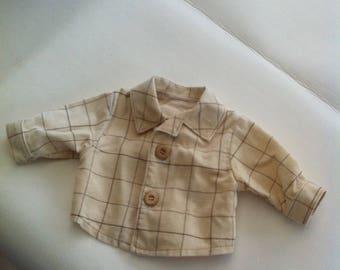 Shirt jacket Ecru baby 35-45cm