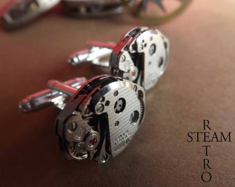 Buttons retro Steampunk cufflinks 16mm - Steampunk jewelry