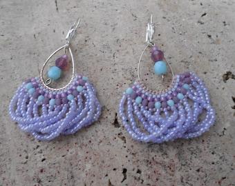 """Beaded earrings """"winter sweetness"""""""
