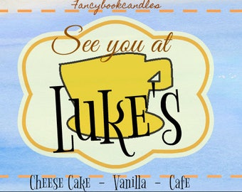 See you at Luke's-Gilmore Girls inspired-Soy candle-handmade