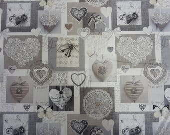 Coupon design heart fabric
