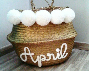 Thai basket gold or silver personalized