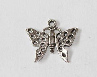 charm silver butterfly, 20 * 17 mm, set of 5 mm