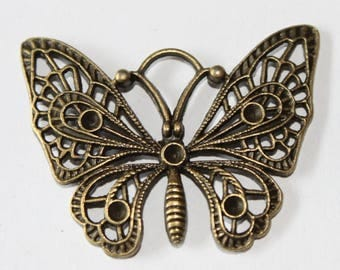 Butterfly pendant, 48 * 37 mm, set of 2
