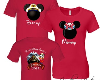 Disney Family Cruise T-Shirts 2018, Family Set, Mickey Family Set, Disney Vacation, Disney Cruise, Custom name and number