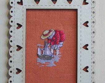 Orange embroidery frame