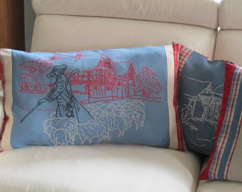 Large embroidered kelsch cushion