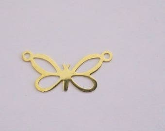 Butterfly connector gold tone.