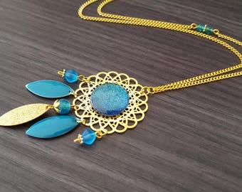 Navette Turquoise Dreamcatcher necklace