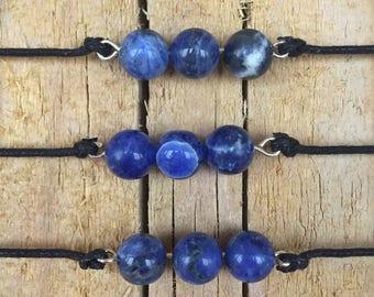 Blue stone choker