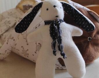 White fleece Bunny soft toy