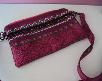 Pink Bohemian bag/pouch