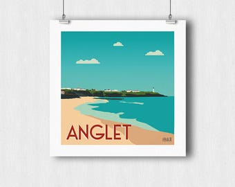 Displays 30x30cm Anglet - Basque country