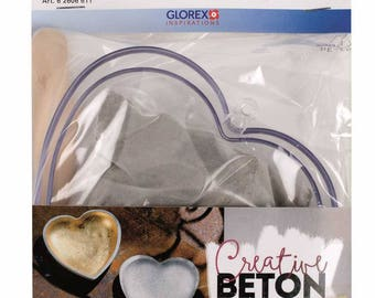 Creative concrete heart - Glorex - Ref 62606611 Kit