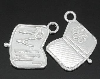 50 pendants 19x16mm within 15 days silver tool charms