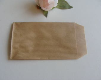 1 piece Brown kraft paper bag gift wrapping still 7 * 12 cm Brown background