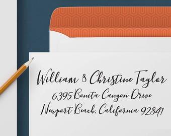 Return Address Stamp 348 - Self Inking Stamp, Custom Address Stamp, Custom Stamp, Personalized Address Stamp, Wedding and Housewarming Gift
