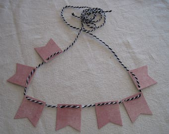 Garland to decorate paper, string baker twine, pennant