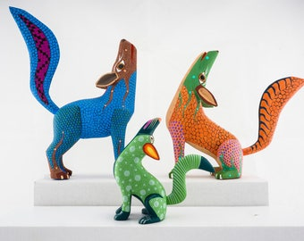 Coyote-Alebrije-Mexican handicrafts (free shipping in Italy)
